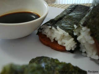 Filipino Recipe Spam Musubi Magluto Com Filipino Dishes Amp Recipes