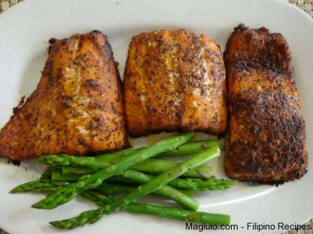 how to cook baked salmon panlasang pinoy