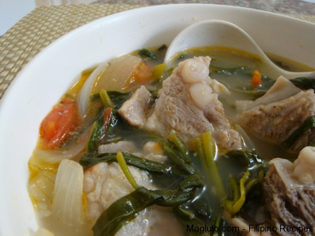 Filipino Recipe Sinigang Na Baboy Pork Spare Ribs In Sour Soup Magluto Com Filipino Dishes Recipes
