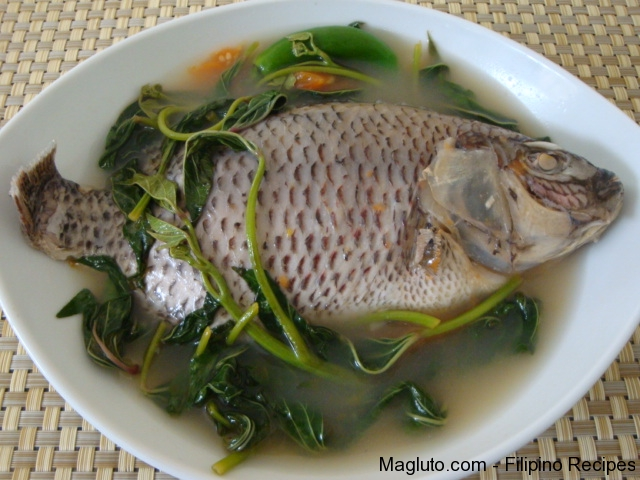 Filipino recipe sinigang na tilapia tilapia in sour soup for Filipino fish recipes