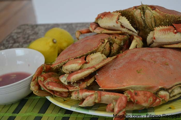 Pinoy Halabos Na Alimango Steamed Dungeness Crab Magluto Com Filipino Dishes Recipes